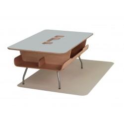 Table Kotatsu - avec découpe - Folkstone Grey