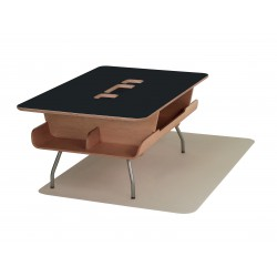 Table Kotatsu - avec découpe - Black Umber