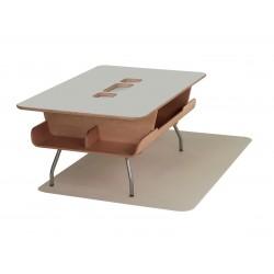 Table Kotatsu - avec découpe - Sandstone