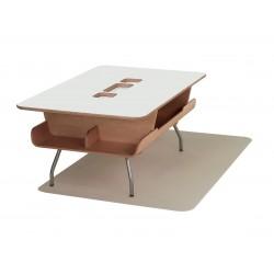 Table Kotatsu - avec découpe - Chalk White