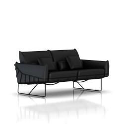 Canapé Wireframe Herman Miller 2 places - noir - Cuir Noir