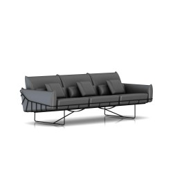 Canapé Wireframe Herman Miller 3 places - noir - Cuir Smoke