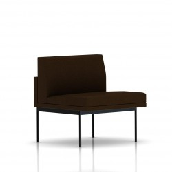 Fauteuil Tuxedo Herman Miller 1 place - structure noire - Tissu Ottoman Java