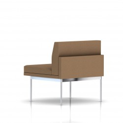Fauteuil Tuxedo Herman Miller 1 place - structure chromée - Tissu Ottoman Vicuna