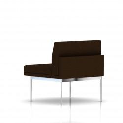Fauteuil Tuxedo Herman Miller 1 place - structure chromée - Tissu Ottoman Java