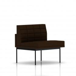 Fauteuil Tuxedo Herman Miller 1 place - structure noire - Surpiqures - Tissu Ottoman Java
