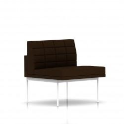 Fauteuil Tuxedo Herman Miller 1 place - structure blanche - Surpiqures - Tissu Ottoman Java