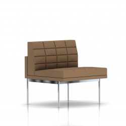 Fauteuil Tuxedo Herman Miller 1 place - structure chromée - Surpiqures - Tissu Ottoman Vicuna