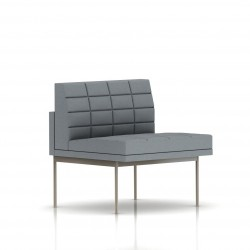 Fauteuil Tuxedo Herman Miller 1 place - structure satin chrome - Surpiqures - Tissu Ottoman Oxford