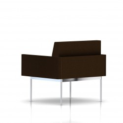 Fauteuil Tuxedo Herman Miller 1 place - avec accoudoirs - structure chromée - Tissu Ottoman Java
