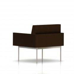 Fauteuil Tuxedo Herman Miller 1 place - avec accoudoirs - structure satin chrome - Tissu Ottoman Java