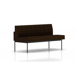 Canapé Tuxedo Herman Miller 2 places - sans accoudoir - surpiqures - structure noire - Tissu Ottoman Java
