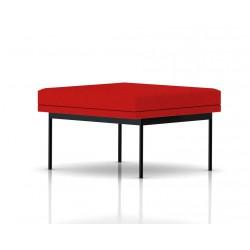 Pouf Tuxedo Ottoman Herman Miller 1 place - structure noire - Tissu Ottoman Rouge