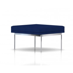 Pouf Tuxedo Ottoman Herman Miller 1 place - structure chromée - Tissu Ottoman Bleu