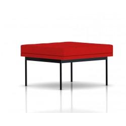 Pouf Tuxedo Ottoman Herman Miller 1 place - surpiqures - structure noire - Tissu Ottoman Rouge