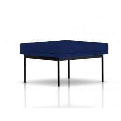 Pouf Tuxedo Ottoman Herman Miller 1 place - surpiqures - structure noire - Tissu Ottoman Bleu