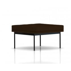 Pouf Tuxedo Ottoman Herman Miller 1 place - surpiqures - structure noire - Tissu Ottoman Java