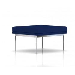 Pouf Tuxedo Ottoman Herman Miller 1 place - surpiqures - structure chromée - Tissu Ottoman Bleu