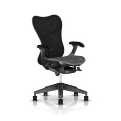 Fauteuil Mirra 2 Herman Miller Graphite / Butterfly Slate Grey