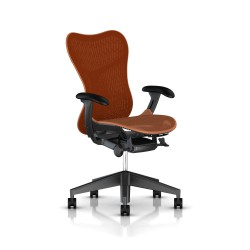 Fauteuil Mirra 2 Herman Miller Graphite / Butterfly Urban Orange