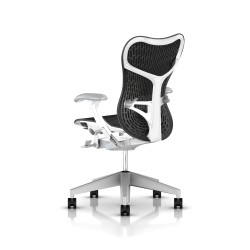 Fauteuil Mirra 2 Herman Miller Fog Studio White / Butterfly Graphite