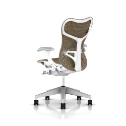Fauteuil Mirra 2 Herman Miller Fog Studio White / Butterfly Cappuccino