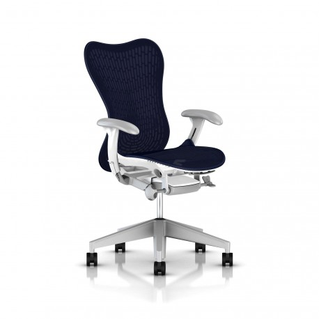 Fauteuil Mirra 2 Herman Miller Fog Studio White / Butterfly Twilight
