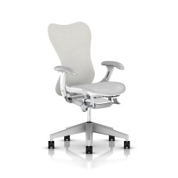 Fauteuil Mirra 2 Herman Miller Fog Studio White / Butterfly Studio White