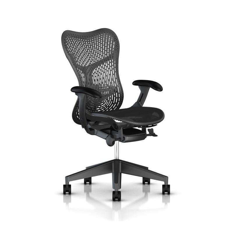 fauteuil mirra 2 herman miller graphite triflex graphite. Black Bedroom Furniture Sets. Home Design Ideas