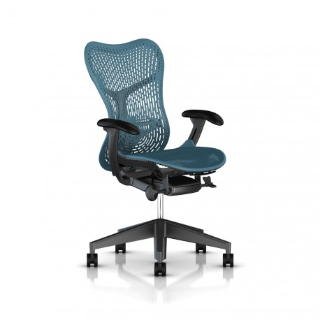 Fauteuil Mirra 2 Herman Miller Graphite / Triflex Dark Turquoise