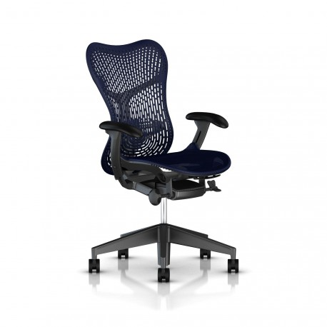 Fauteuil Mirra 2 Herman Miller Graphite / Triflex Twilight