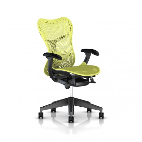 Fauteuil Mirra 2 Herman Miller Graphite / Triflex Lime Green