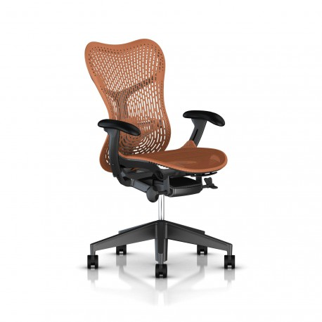 Fauteuil Mirra 2 Herman Miller Graphite / Triflex Urban Orange