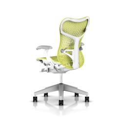 Fauteuil Mirra 2 Herman Miller Fog Studio White / Triflex Lime Green