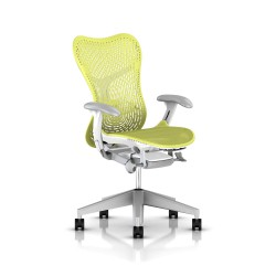 Fauteuil Mirra 2 Herman Miller Fog Studio White / Triflex Lime Green