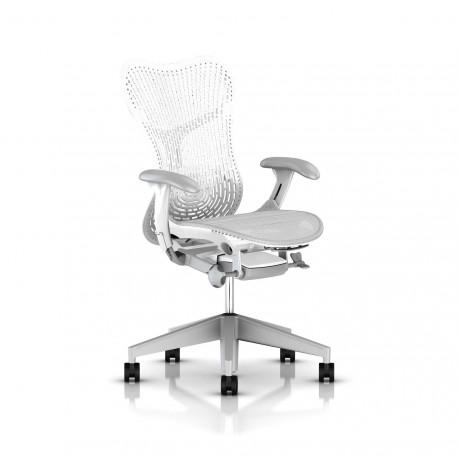 Fauteuil Mirra 2 Herman Miller Fog Studio White / Triflex Studio White