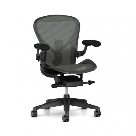 Fauteuil Aeron Classique Herman Miller Graphite / Graphite /Posture Fit / Classic Carbon