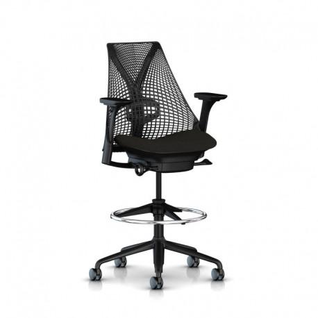 Sayl stool - Graphite - Siège de bureau haut