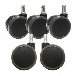 Roulettes C7 sols durs ø65mm