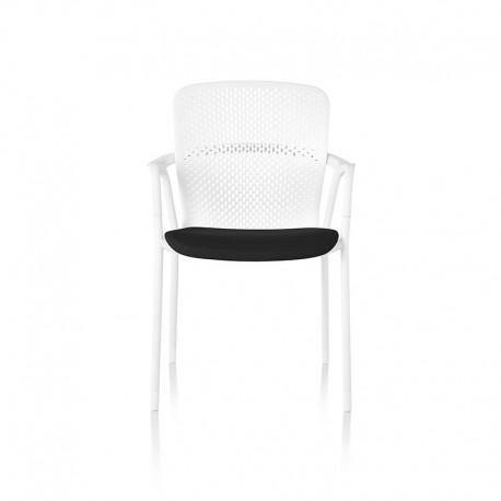 Keyn - 4 pieds - Assise Tissu noir