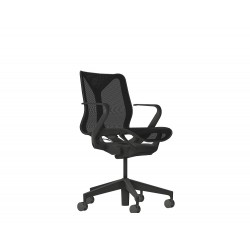 Cosm dossier bas - Graphite - Accoudoirs fixes - Herman Miller